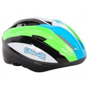 Volare casco de bicicleta Deluxe verde blanco negro 51-55 cm