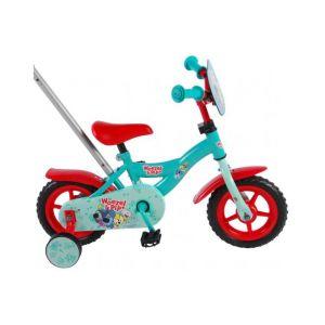 Bicicleta para niños Woezel & Pip - 10 pulgadas - Azul / Rojo