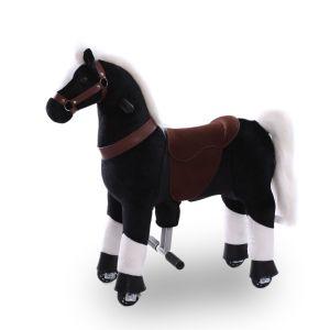 Kijana montar a caballo de juguete negro pequeño
