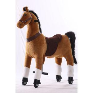Kijana montar a caballo de juguete marrón grande