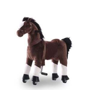 Kijana caballo de juguete marrón chocolate grande