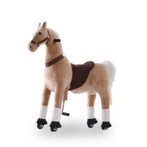 Kijana caballo de juguete beige grande