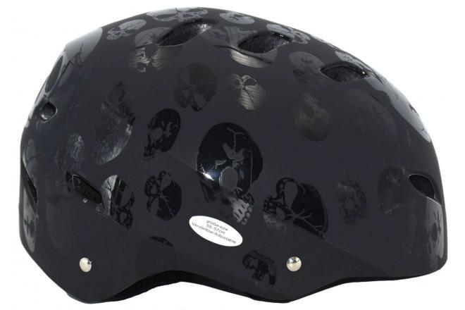 Volare casco de bicicleta / skate calavera 55-57 cm
