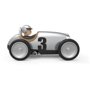 Baghera Retro speelgoedauto Racer zilver