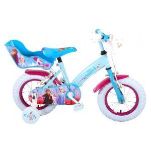 Disney Frozen 2 Bicicleta para niños - Niñas - 12 pulgadas - Azul / Morado - 2 frenos de mano