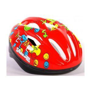 Volare casco de bicicleta Deluxe Smileys rojo 51-55 cm