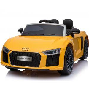 Audi coche eléctrico para niños R8 Cabrio amarillo