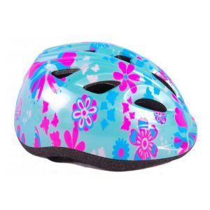 Volare casco de bicicleta para niñas XS flores azules rosas 47-51 cm modelo extra pequeño