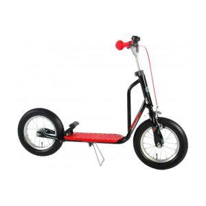 Volare patinete para niños y niñas 12 pulgadas negro / rojo