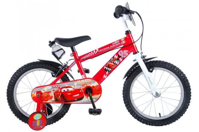 Bicicleta infantil Disney Cars - Niños - 16 pulgadas - Rojo - 2 frenos de mano