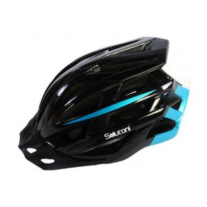 Salutoni casco de bicicleta para hombre negro y azul 58-61 cm