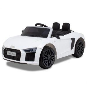 Audi coche eléctrico para niños R8 convertible blanco