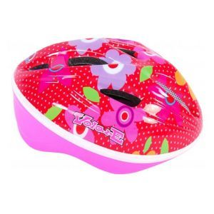 Volare casco de bicicleta Deluxe - Flores rosas rojas - 51-55 cm