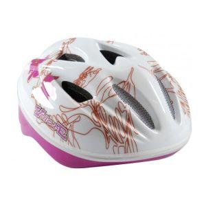 Volare casco de bicicleta Deluxe blanco rosa Hojas 51-55 cm