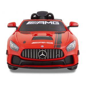 Mercedes GT4 AMG kinderauto rood vooraanzicht
