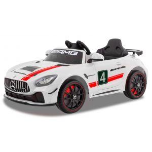 Mercedes coche eléctrico para niños GT4 blanco