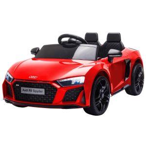 Audi coche eléctrico para niños R8 convertible rojo