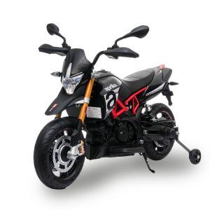 Aprilia moto eléctrica infantil Dorsoduro 900 negro