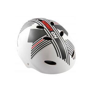 Volare casco de bicicleta sin límites blanco /gris / rojo