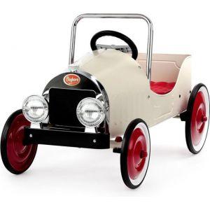 Baghera coche de pedales para niños Classic Retro blanco