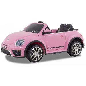 Volkswagen coche eléctrico para niños Dune Beetle rosa