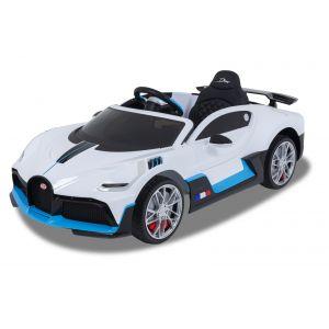 Bugatti Coche eléctrico para niños Divo blanco