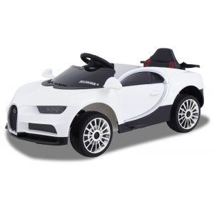 Kijana coche eléctrico para niños estilo Bugatti blanco