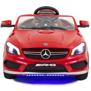 Mercedes coche eléctrico para niños CLA45 AMG rojo