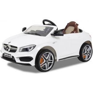 Mercedes coche eléctrico para niños CLA45 AMG blanco