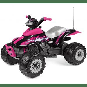 Peg Perego elektrische kinderquad roze Corral T-Rex