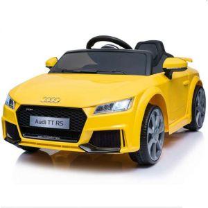 Coche infantil Audi eléctrico TT RS Amarillo