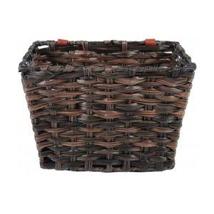 Volare cesta de bicicleta de mimbre trenzada pequeña marrón