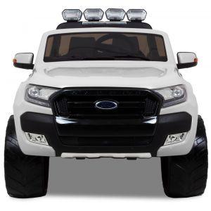 Ford Ranger kinderauto wit voorkant koplampen voorbanden motorkap