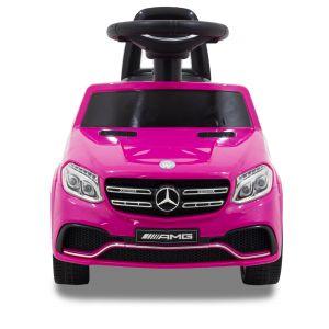 Mercedes GLS63 AMG loopauto roze vooraanzicht