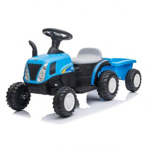Kijana Tractor eléctrico para niños con remolque azul