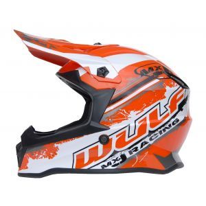 Wulfsport casco para niños Junior Cub Off Road Pro rojo