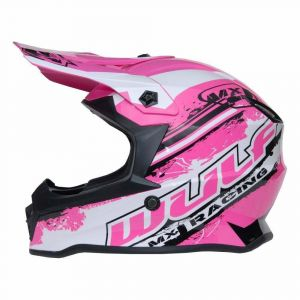Wulfsport casco niños Junior Cub Off Road Pro rosa