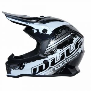 Wulfsport casco niños Junior Cub Off Road Pro negro