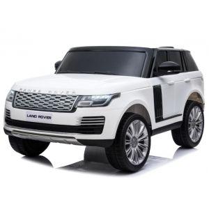 Land Rover coche eléctrico para niños estilo Range Rover 2 plazas blanco