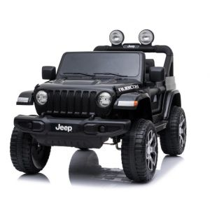 Jeep coche eléctrico para niños Wrangler negro