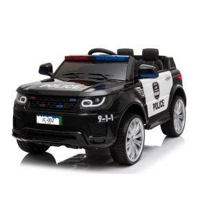 Kijana coche de policía eléctrico para niños Land Rover negro