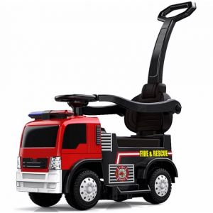 Kijana Brandweerwagen loopauto met duwstang