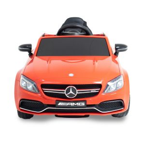 Mercedes C63 AMG kinderauto rood vooraanzicht