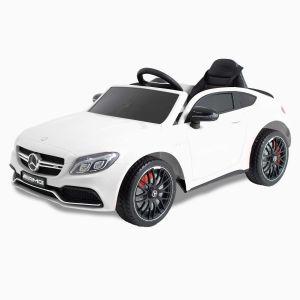 Mercedes coche eléctrico para niños C63 AMG blanco