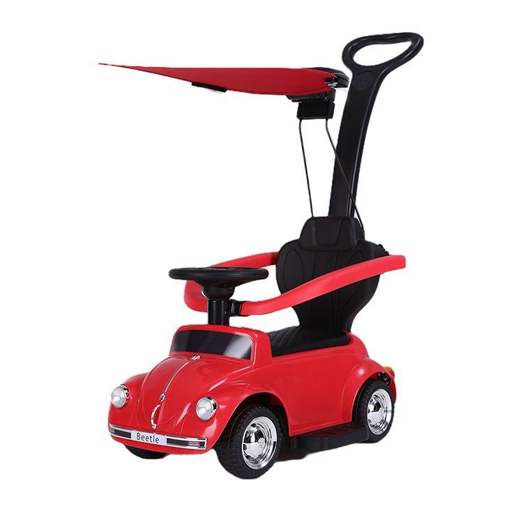 Volkswagen correpasillos Beetle con parasol rojo