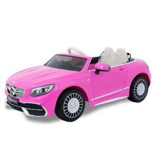 Mercedes cocheeléctrico para niños Maybach S650 Cabrio Rosa