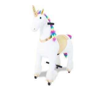 Kijana unicorn rijdend speelgoedregenboog groot