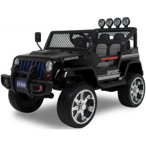 Monster Jeep cocheeléctrico para niños negro