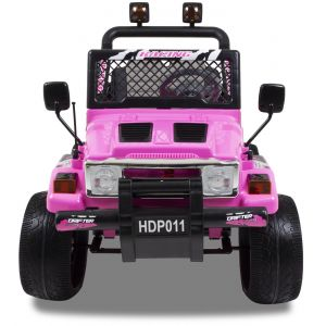 Jeep kinderauto roze