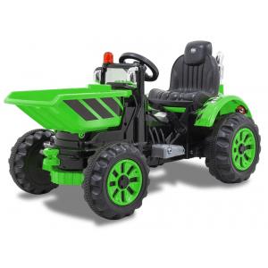 Kijana tractor eléctrico con cuchara verde